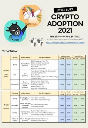 쟁글-크립토서울, 23~24일 '클럽하우스'서 '리틀 비들 크립토 어돕션 2021' 온라인 글로벌 컨퍼런스 개최